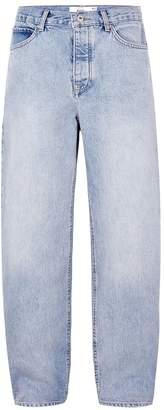 Topman Light Wash Baggy Jeans