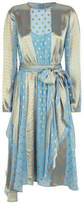 Diane von Furstenberg Tie Waist Polka Dot Dress