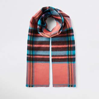 River Island Womens Blue tartan check print scarf