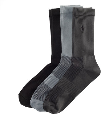 Ralph Lauren Poly Tech Crew Sock 3-Pack
