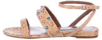 Tabitha Simmons Studded Cork Sandals