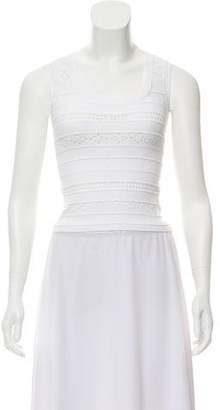 Gianfranco Ferre Scalloped Open Knit Top