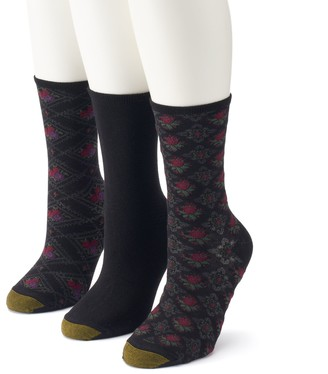 Gold Toe Goldtoe Women's GOLDTOE 3-Pack Floral Crew Socks