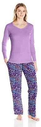 Bottoms Out Women's Printed Micro Fleece Pajama Set