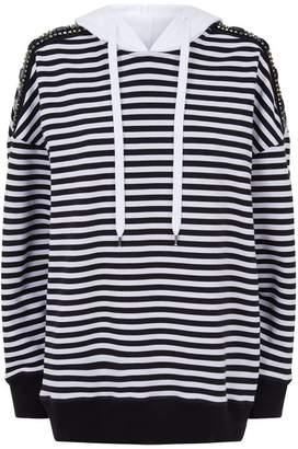 N°21 Jewelled Striped Hoodie
