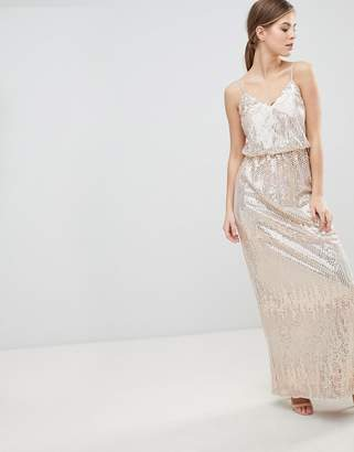 Little Mistress Scatter Sequin Maxi Dress
