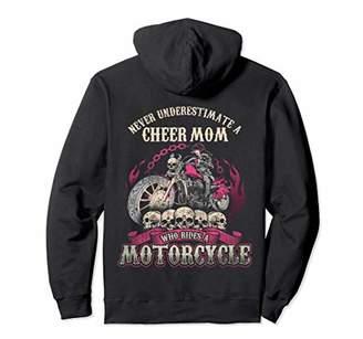 Cheer Mom Biker Chick Hoodie Never Underestimate Motorcycle