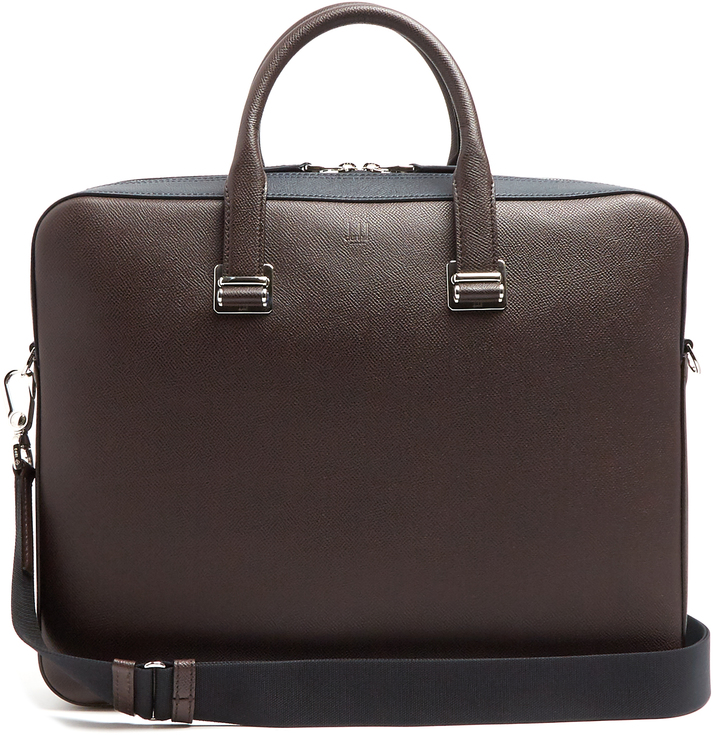 Alfred Dunhill DUNHILL Cadogan bi-colour leather briefcase