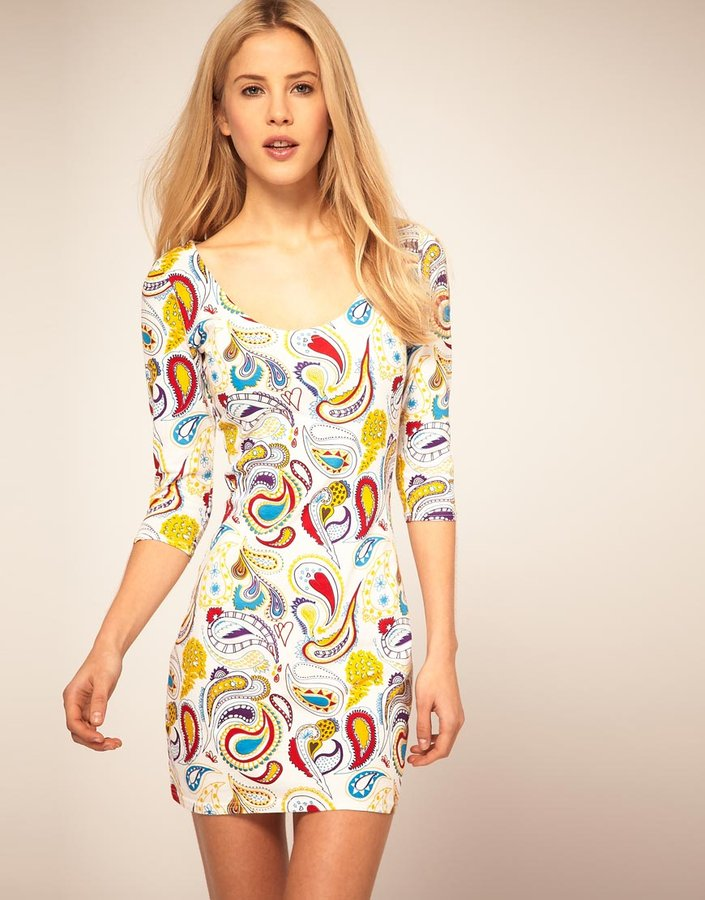 People Tree 'Zakee Shariff' Jersey Body-Conscious Dress In Paisley Print