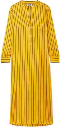 Sleepy Jones - Georgia Oversized Striped Silk-satin Twill Nightdress - Mustard