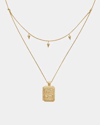 Wanderlust + Co Zalea Locket Gold Necklace
