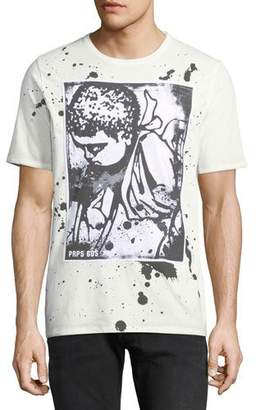 PRPS Men's Paint Splattered Cherub-Logo T-Shirt