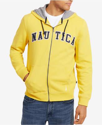 Nautica Men's Full-Zip Logo Hoodie