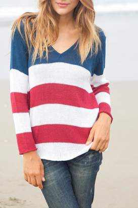 Wooden Ships American Flag Sweater