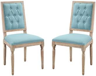 Linon Avalon Tufted Dining Chair 2-piece Set