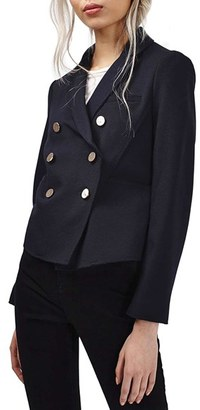Topshop Gold Button Double Breasted Blazer $95 thestylecure.com