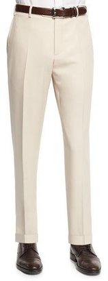Zanella Parker Gabardine Wool Trousers, Navy $495 thestylecure.com