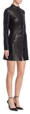 Alexander Wang Military Moto Leather Trench Coat