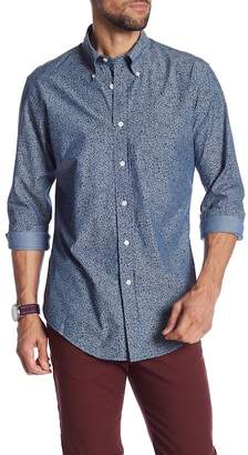 Brooks Brothers Chambray Floral Print Regent Fit Shirt