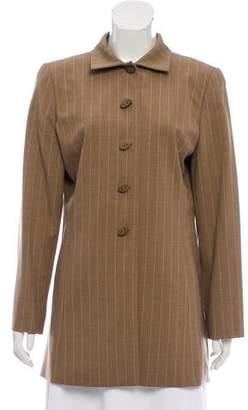 Ellen Tracy Linda Allard Wool Pinstripe Coat