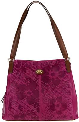 Tignanello Embossed Leather Triple Entry Astor Shopper
