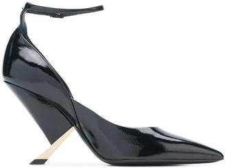 Casadei sculpted heel pointed pumps