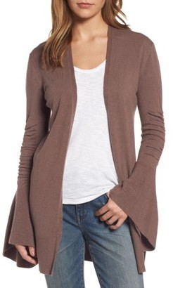 Women's Hinge Ruched Bell Sleeve Cardigan $89 thestylecure.com