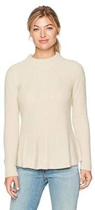 Design History Women's Mitring & Peplum Sweater