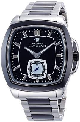 Lion Heart (ライオン ハート) - [ライオンハート]Lion Heart 腕時計 W102 ステンレススチールケース&セラミックベゼル ステンレス&セラミックブレス ブラック文字盤 クォーツ 日常生活防水 LHW102SBK メンズ 腕時計