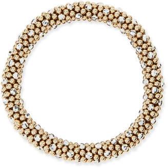 Meredith Frederick Beth 14-Karat Gold and Silver Bead Bracelet