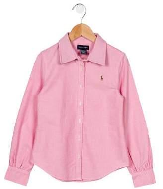 Ralph Lauren Boys' Embroidered Button-Up Top