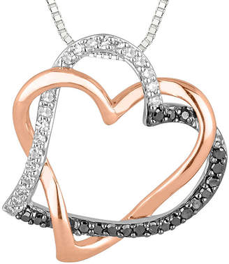 Black Diamond FINE JEWELRY 1/5 CT. T.W. White and Color-Enhanced Heart Pendant Necklace