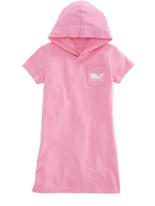 Vineyard Vines Girls Short-Sleeve Whale Hoodie Pocket Tee Dress