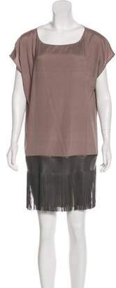 Fabiana Filippi Fringe-Accented Mini Dress