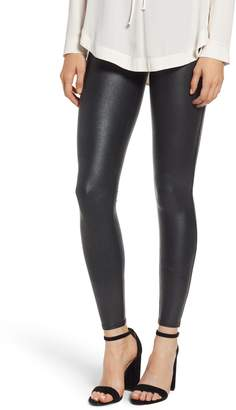 Spanx R) Pebbled Faux Leather Leggings