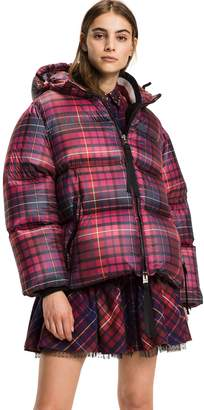 Tommy Hilfiger Short Tartan Down Coat