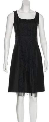 Akris Punto Pleated Knee-Length Dress