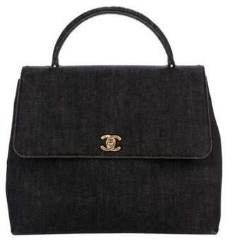 Chanel Denim Kelly Handle Bag