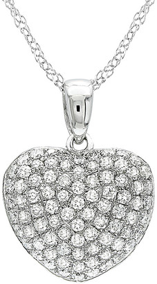 Diamond Select Cuts 14K 0.51 Ct. Tw. Diamond Heart Necklace