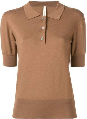 Extreme Cashmere fine knit polo top