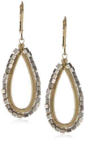 Dana Kellin Sterling Silver and 14k Gold Fill Open Teardrop Earrings