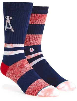 Men's Stance Mlb Tye Dye Summer League Angels Crew Socks $18 thestylecure.com
