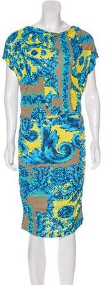 Versace Printed Midi Dress