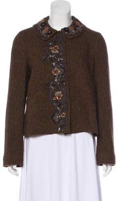 DKNY Embellished Long Sleeve Blazer