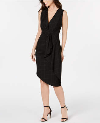 b1d332ae5559a Elie Tahari Printed Draped Front Sheath Dress