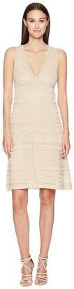 M Missoni Solid Rib Stitch V-Neck Dress Women's Dress
