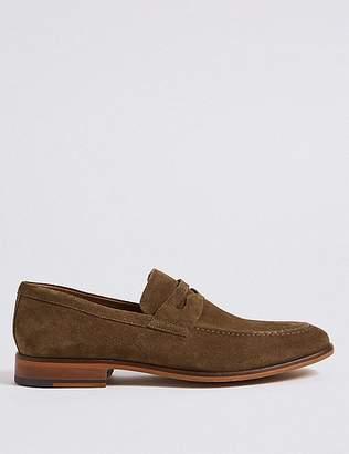 Marks and Spencer Suede Saddle Slip-on Loafers
