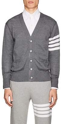 Thom Browne Men's Block-Striped Wool V-Neck Cardigan