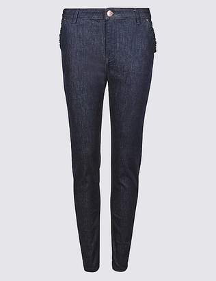 Marks and Spencer Frill Pocket Roma Rise Skinny Leg Jeans