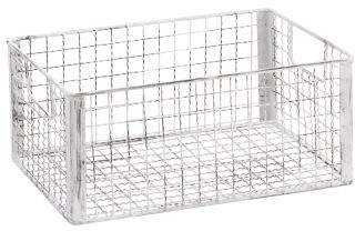 Small Lattice Metal Storage Basket